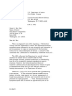 US Department of Justice Civil Rights Division - Letter - tal032