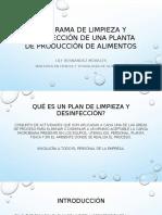Programa de Limpieza y Desinfección de Una Planta