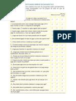 Cuestionario Breve de Diagnóstico Ludopatia