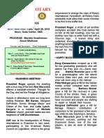 Moraga Rotary Newsletter - April 19 2016