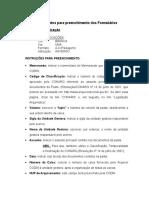 Procedimentos Para Preenchimento Dos Formulários - 12-07-2007