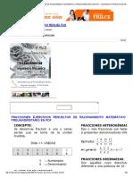 Fracciones Ejercicios Resueltos de Razonamiento Matemático Preuniversitario en PDF _ Matematica Preguntas Resueltas