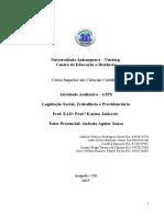 ATPS Legislação Social, Trabalhista e Previdenciaria