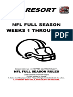 2016 NFL season betting lines