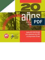 Libro 20 años de PRL en España UGT