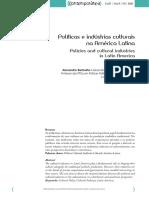 Barbalho - Políticas e Indústria Cult. Na América Latina