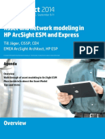 Asset and network modeling in HP ArcSight ESM and Express
