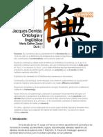 Jacques Derrida_ Epistemología y Ética