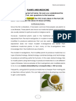 plants and medicine student model