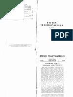 Revue Etudes Traditionnelles 1967