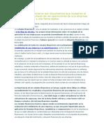 Los Estados Financieros Son Documentos Que Muestran El Resumen Del Resultado de Las Operaciones de Una Empresa Por Un Periodo y a Una Fecha Dados