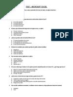 Test - Excel Intermedio