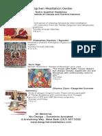 Dzogchen Meditation Center Weekly Schedule