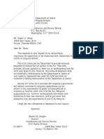 US Department of Justice Civil Rights Division - Letter - tal043