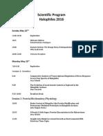 scientific program halophiles 2016