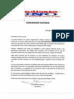 LLAMADO Nacional Elecciones Sindicato Unoi