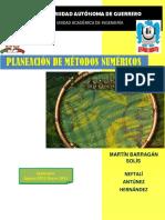 Planeacion de Metodos Numericos