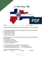 Cuaderno Para Pruebas Nacionales de Ciencias Sociales Para Cuarto de Secundaria