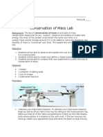 conservation of mass exp