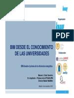 3 BIM Desde El Conocimiento de Las Universidades UPM
