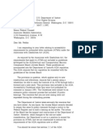 US Department of Justice Civil Rights Division - Letter - tal046