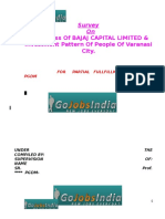 People Awareness Regarding BAJAJ CAPITAL LIMITED Their Investment Pattern