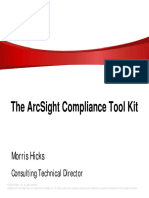 The ArcSight Compliance Tool Kit