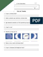 Ficha Estudo Do Meio Lua e Sistema Solar - PDF