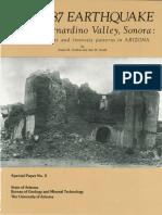 Terremoto 1887 Sonora