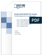Design Build Qa Qc Plan