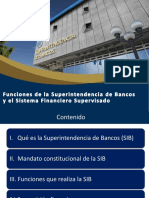 Funciones de La SIB y Sistema Financiero Supervisado