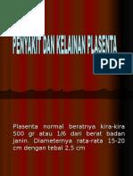 Penyakit Dan Kelainan Plasenta