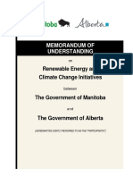 Alberta/Manitoba MOU on power sales