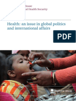 Centre for Global Health Security Prospectus