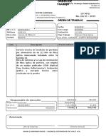 FR-MO-07 Orden de Trabajo 2015