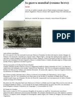 Primera y Segunda Guerra Mundial