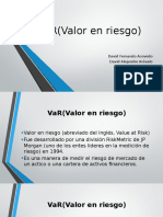 VaR uniagraria David Arevalo- David Acevedo