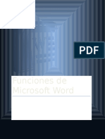 Funciones de Microsoft World (Office)