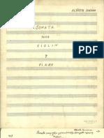 Soanta Para Violin y Piano