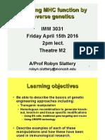1pp IMM3031 MHC Function Reverse Genetics (2016)