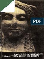Ana Di Sabato de Polito - Las Poetas de La Antigua Grecia (Antologia-Bilingue)