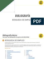 Bibliografía Mooc Búsqueda de Empleo