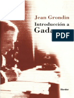 Grondin Introduccion a Gadamer