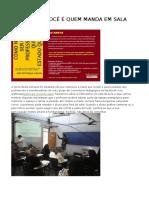 PROFESSOR VOCÊ É QUEM MANDA NA SALA DE AULA.doc