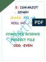 Computer Program-ODD EVEN
