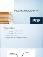 leksikolohiya at leksikograpiya