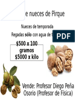 Cartel Nueces