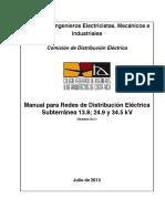 Manual para Redes de Distribución Eléctrica Subterranea 13.8, 24.9 y 34.5 kV Costa Rica