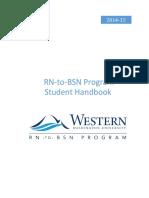 rn-to-bsn student handbook 2014