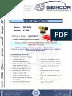 Geincor-especificaciones Tecnicas at-b4 Topcon